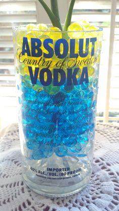 Absolut Vodka Bottle Vase by PattiesPassion on Etsy, $9.99