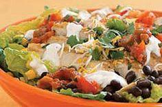 Ensalada de pollo estilo Santa Fe receta