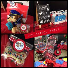 Paw Patrol Birthday Party. Adopt a puppy. Favors and decor.