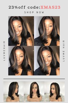 This wig is available now!👏️😍️❣️❣️ Not named yet. Kindly give a name for it.🤗️ We will choose the most popular one as product name. Weave Hairstyles, Pretty Hairstyles, Natural Hair Styles, Short Hair Styles, Hair Game, Hair Highlights, Hair Dos, Human Hair Wigs, Hair Hacks