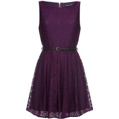 Mela Loves London Lace dress ($31) ❤ liked on Polyvore featuring dresses, vestidos, purple, short dresses, women, purple lace dress, purple cocktail dresses, lace fit-and-flare dresses, short purple dresses and short lace dress