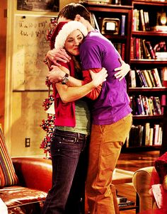 The Big Bang Theory: Penny's first hug from Sheldon ever. possibly my favorite Big Bang moment. Big Bang Theory Gifts, The Big Theory, Leonard Hofstadter, Leonard Nimoy, Hugs, Penny And Sheldon, The Bigbang Theory, Amy Farrah Fowler, Johnny Galecki