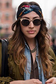 Como usar lenço: o acessório completou o visual hippie-chic
