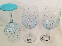 You can't have wine charms without wine glasses. I was inspired by Hannah from Eat, Drink, and Save Moneyto decorate wine glasses to give as party favors for the bachelorette party. Plus, can you ...