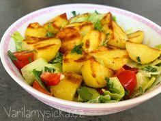 Fruit Salad, Tofu, Potato Salad, Potatoes, Ethnic Recipes, Sweet, Red Peppers, Candy, Fruit Salads