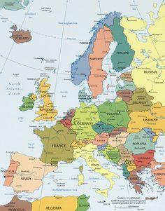 Mapa Político da Europa
