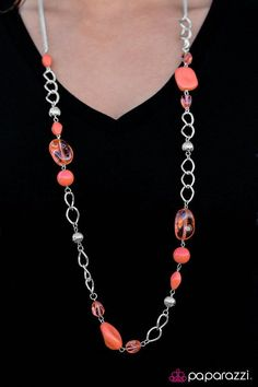 GLASS-ical Music Orange Necklace