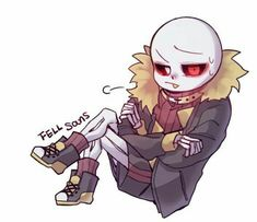Read Fell Sans from the story Undertale ~ imágenes De Ships Yaoi ~ by (Jimena with reads. Anime Undertale, Undertale Drawings, Undertale Cute, Frisk, Underfell Sans, Fanfiction, Sans Cute, Sans And Papyrus, Stray Dogs Anime