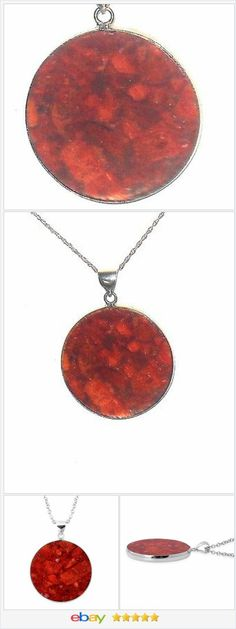 50% off #ebay http://stores.ebay.com/JEWELRY-AND-GIFTS-BY-ALICE-AND-ANN  Sponge Coral Pendant Stainless Steel Chain
