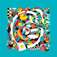 Trippy illustrations by david oku - inspiration grid design inspiration. Grid Design, Logo Design, Freelance Graphic Design, Illustration Art, Illustrations, Trippy, Visual Communication, Doodle Art, Creative Art