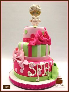 Girls Spa Theme Birthday Cake.