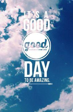 c'est un bon jour pour être génial