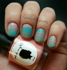 Tribal nails using MoYou stamping plates