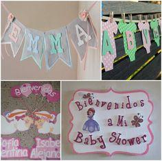 decoracion de baby shower de letreros