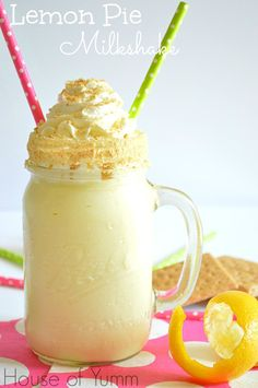 Lemon pie milkshake!  Only three ingredients.  Simple and so yummy!!  #houseofyumm