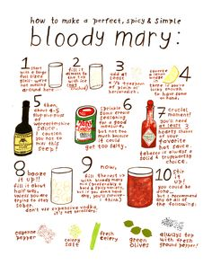 I used to make a mean Bloody Mary, much like this. Think those days are past. Sigh...
