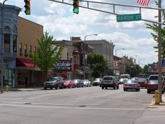 Main Street, south from Marion, Elkhart, Indiana, July 2009 Indianapolis Skyline, Main Street, Street View, Elkhart Indiana, Home Again, Michigan, Country Roads, Personal History, Restaurant
