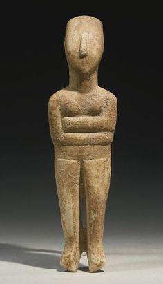 A Cycladic Figure of a Goddess, Early Bronze Age II, circa B. Ancient History, Art History, Sculpture Art, Sculptures, Minoan Art, Ancient Goddesses, Art Premier, Idole, Greek Art