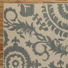 Hattie Parchment & Sage Indoor/Outdoor Rug #birchlane