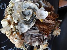 Newspaper flowers | steam punk wedding | paper flower centerpiece | recycled flowers | lissy allyse Designs