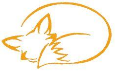 Minimalist fox outline