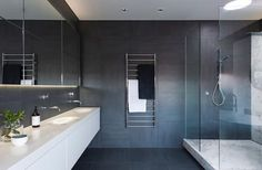 Bathroom // minimal palette + finishes //