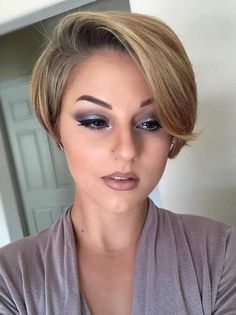 Pixie Bob With Long Side Bangs