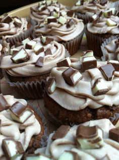 Selfmade Kinderschokolade Cupcakes