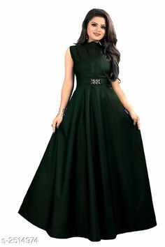 Checkout this latest Dresses Product Name: *Women's Solid Green Taffeta Silk Dress* Sizes: M, L, XL, XXL Country of Origin: India Easy Returns Available In Case Of Any Issue   Catalog Rating: ★4.1 (9553)  Catalog Name: Free Gift Vasavi Attractive Taffeta Silk Western Gowns Vol 3 CatalogID_338336 C79-SC1289 Code: 182-2514974-846