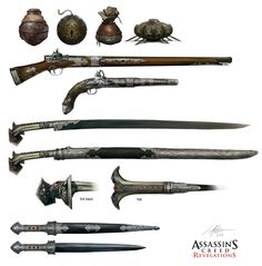 Assassin's Creed Revelations Weapons by Jeff Simpson ... see http://www.surrealsushi.com/08_acreedWeapon.html#