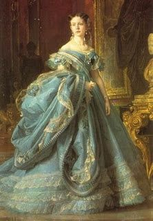 A portrait of Infanta Isabel, Princess of Asturias, Countess of Girgenti (1860s) - o.k., now that's a serious dress!