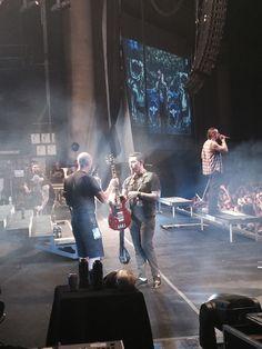 I was on the stage for Avenged's set in Atlanta at Mayhem Fest 2014. Zacky Vengeance
