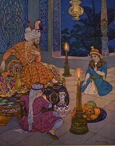 ILLUSTRATION FOR THE ARABIAN NIGHTS by Leon Carre
