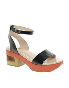Enlarge DV8 Lilly Contrast Sole Heeled Sandals