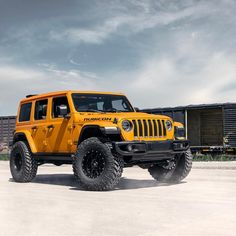 """Lifted Jeep Wrangler Rubicon JL """"Then one day, when you least expect it, the great adventure finds you. Jeep Jl, Jeep Cars, Jeep Truck, Jeep Wrangler Rubicon, Jeep Wrangler Unlimited, Jeep Wranglers, Orange Jeep, Tacoma Truck, Badass Jeep"""