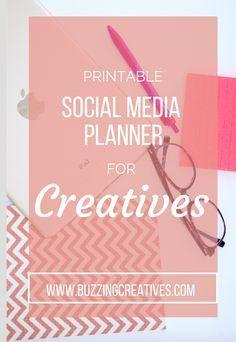 FREE printable social media planner for creatives #creativepreneur #socialmedia