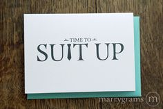 Time to Suit Up - Will You Be My Groomsman Card, Best Man, Usher, Ring Bearer- Fun Wedding Cards for Groom to Ask Groomsmen, Guys (Set of 5) by marrygrams on Etsy https://www.etsy.com/listing/215065378/time-to-suit-up-will-you-be-my-groomsman