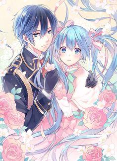Vocaloid (ボーカロイド) - KAITO Shion & Miku Hatsune