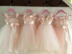 Blush flower girl dress with ice pink accents. NB-4T