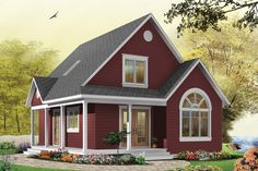 Cottage Style House Plan - 3 Beds 2 Baths 1226 Sq/Ft Plan #23-824 Exterior - Front Elevation - Houseplans.com