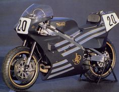 Norton Rotary F1 RCW 588 in JPS colours: Probably the most iconic motorbike of the second half of the 20th century.