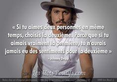 L'amour selon Johnny Depp