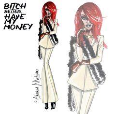 BBHMM - Rihanna - by Armand Mehidri (Look 4)