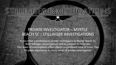Our experienced investigators have over 50 years of investigating experience between them, and if you need a private detective, Greenville SC's first choice is Stillinger Investigations.