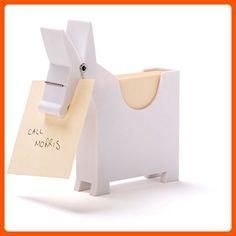 Memo Pad - Desktop Note Pad Message Center - Office Memo Holder - Morris Memo White Donkey - Fun stuff and gift ideas (*Amazon Partner-Link)