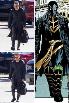 """Many avengers fans were upset that clint """"hawkeye"""" barton was completely absent from infinity war. a throwaway bit of dialogue in the film explained his Marvel Dc, Marvel Comic Universe, Comics Universe, Marvel Heroes, Marvel Cinematic Universe, Gi Joe, Hawkeye Costume, Dc Comics, Avengers Outfits"""