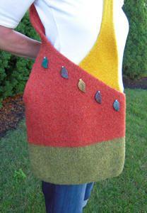 Crossover Bag Pattern Original Felted Handbag Patterns Felt Bags Pinterest And Handbags