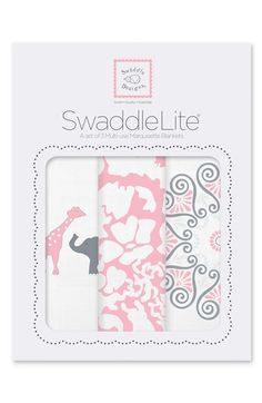 Swaddle Designs 'Swaddle Lite - Lush' Marquisette Blanket (Set of 3) | Nordstrom