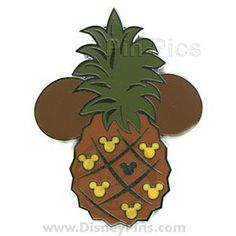 One of my Hawaii inspired pins. Pin Pics Disney Pin 56894: WDW - Hidden Mickey 2007 Series 2 - Pineapple