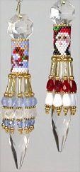 Santa & Reindeer Crystal U Drops Pattern at Bead-Patterns.com